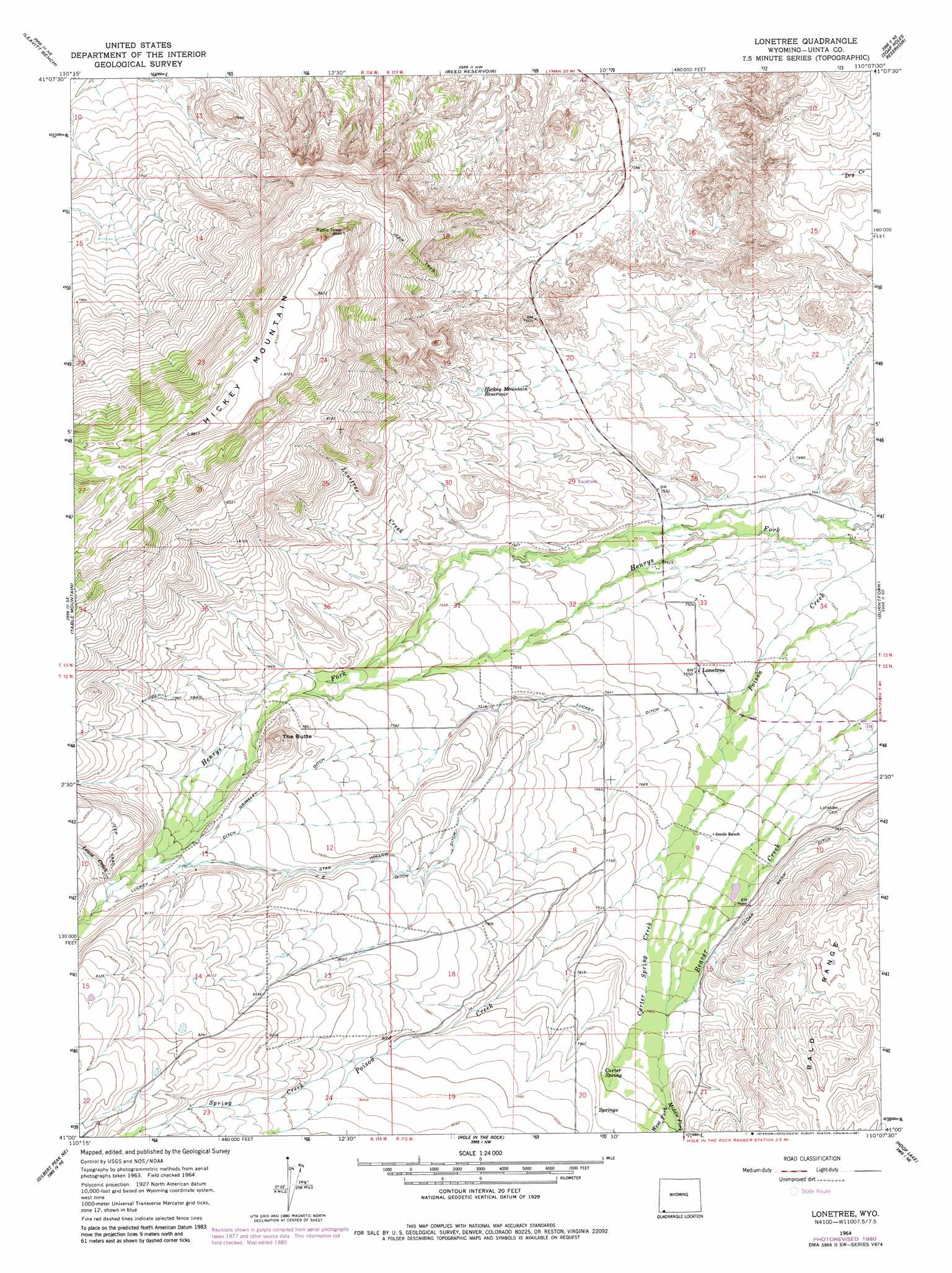 Lonetree Topographic Map WY  USGS Topo Quad 41110a2