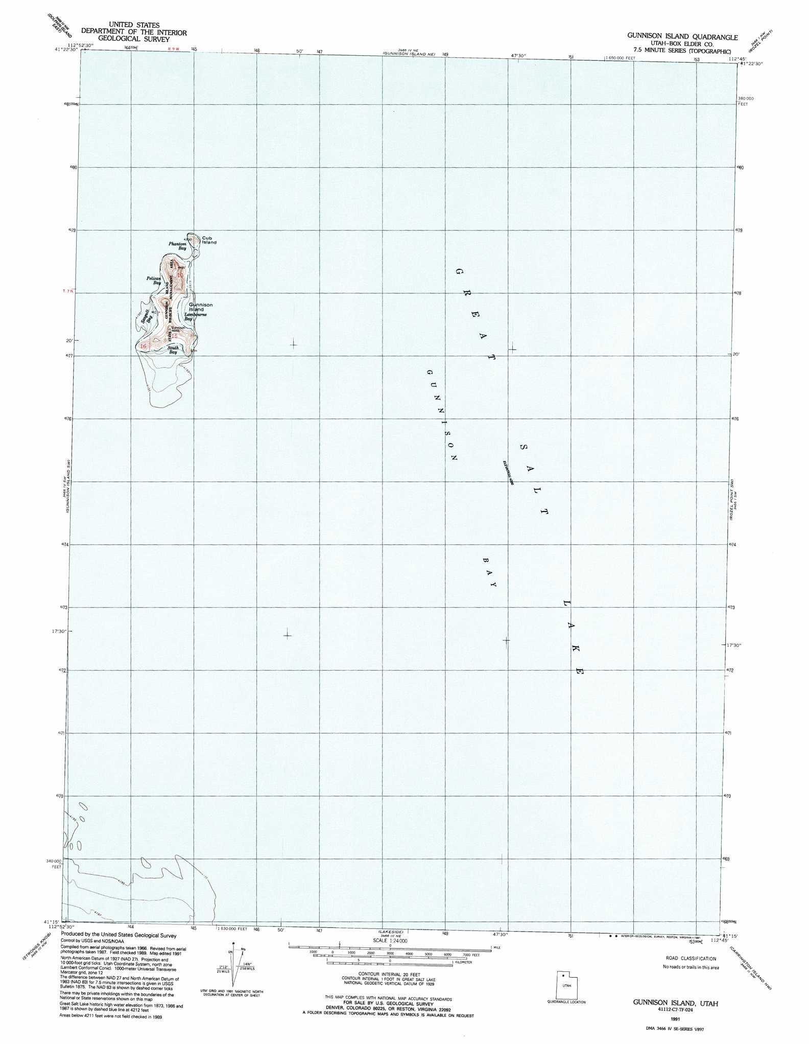Gunnison island topographic map ut usgs topo quad 41112c7 gunnison island buycottarizona Image collections