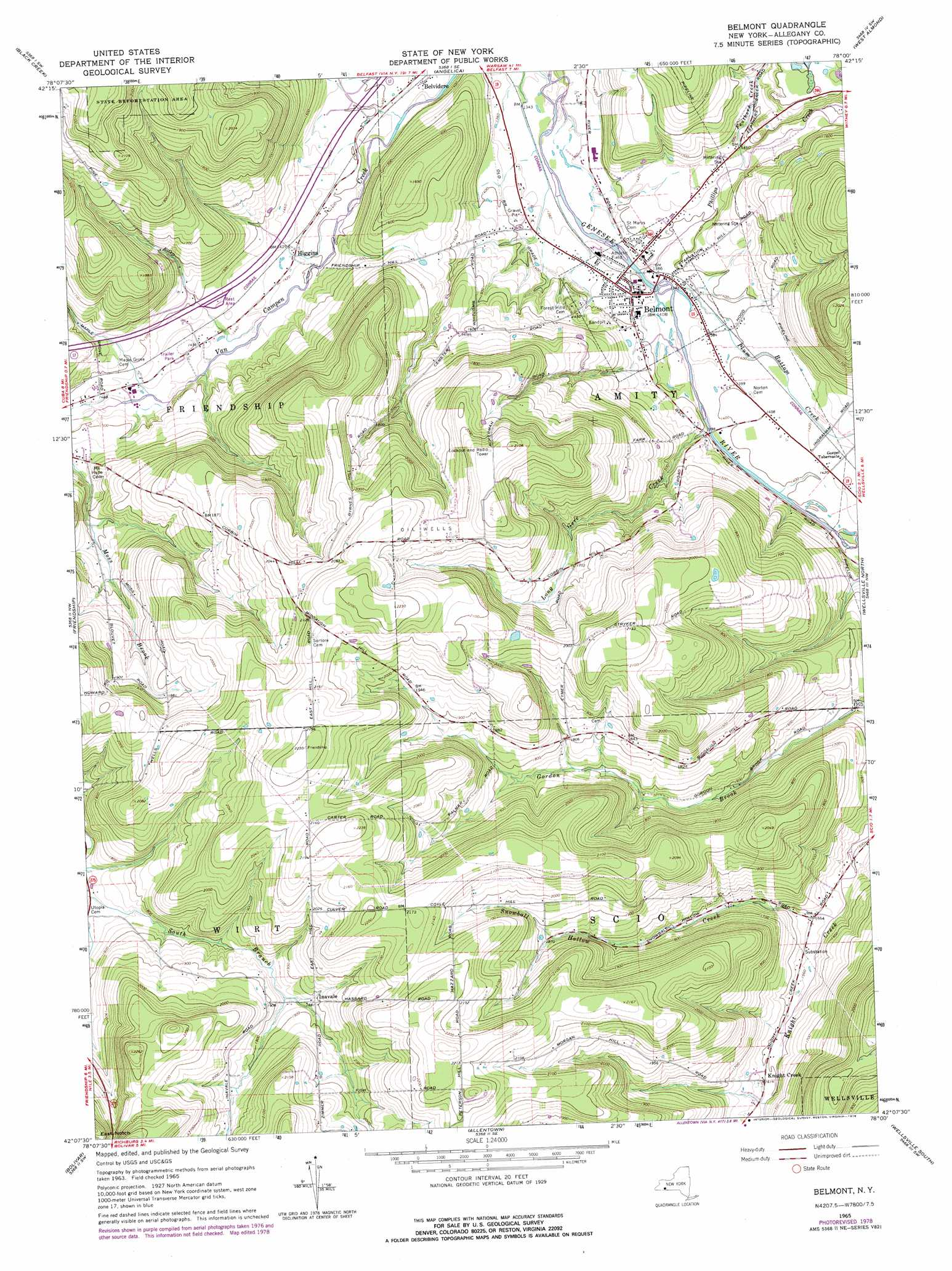 O B on Lake George Topographic Map