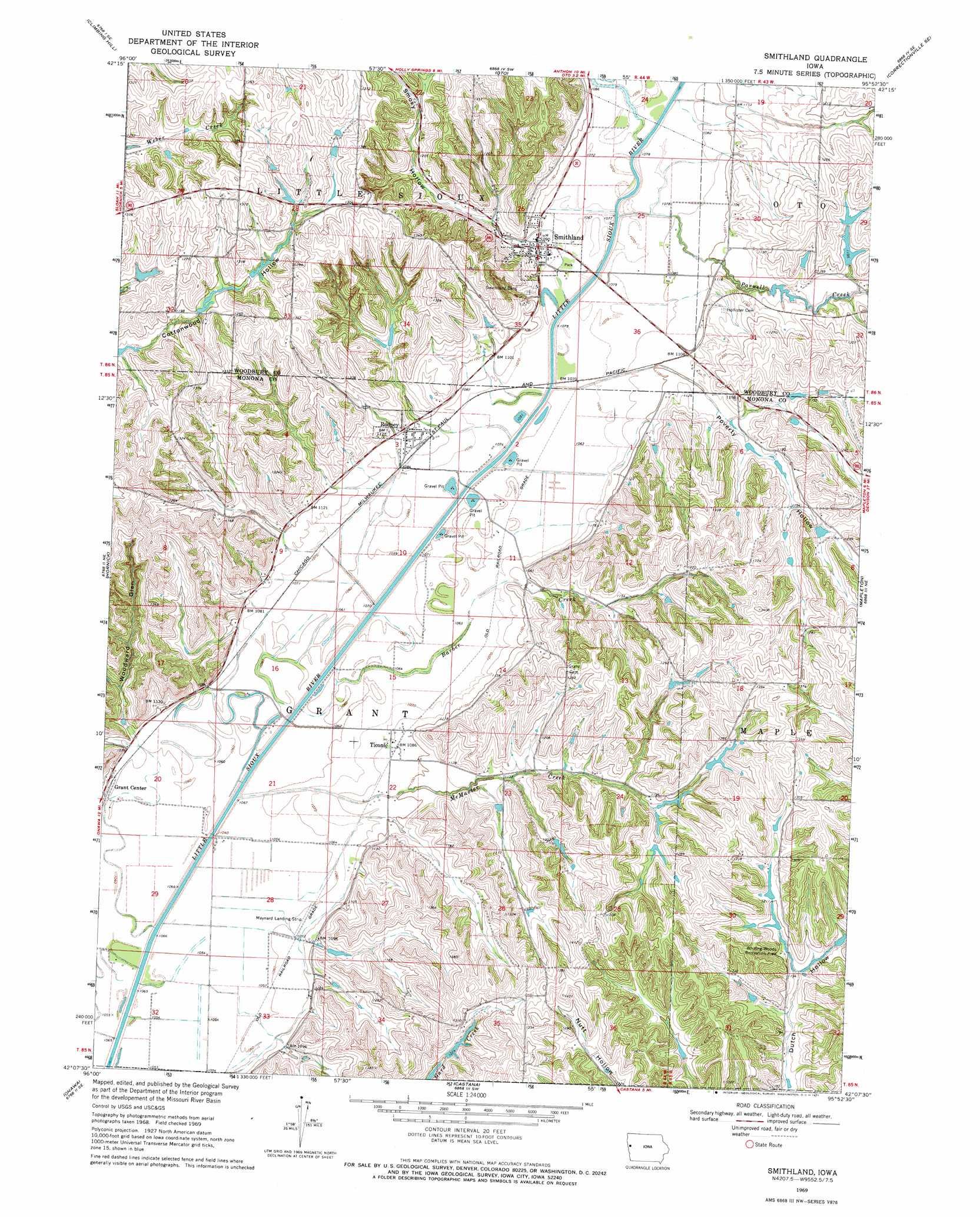 Smithland Topographic Map Ia Usgs Topo Quad 42095b8