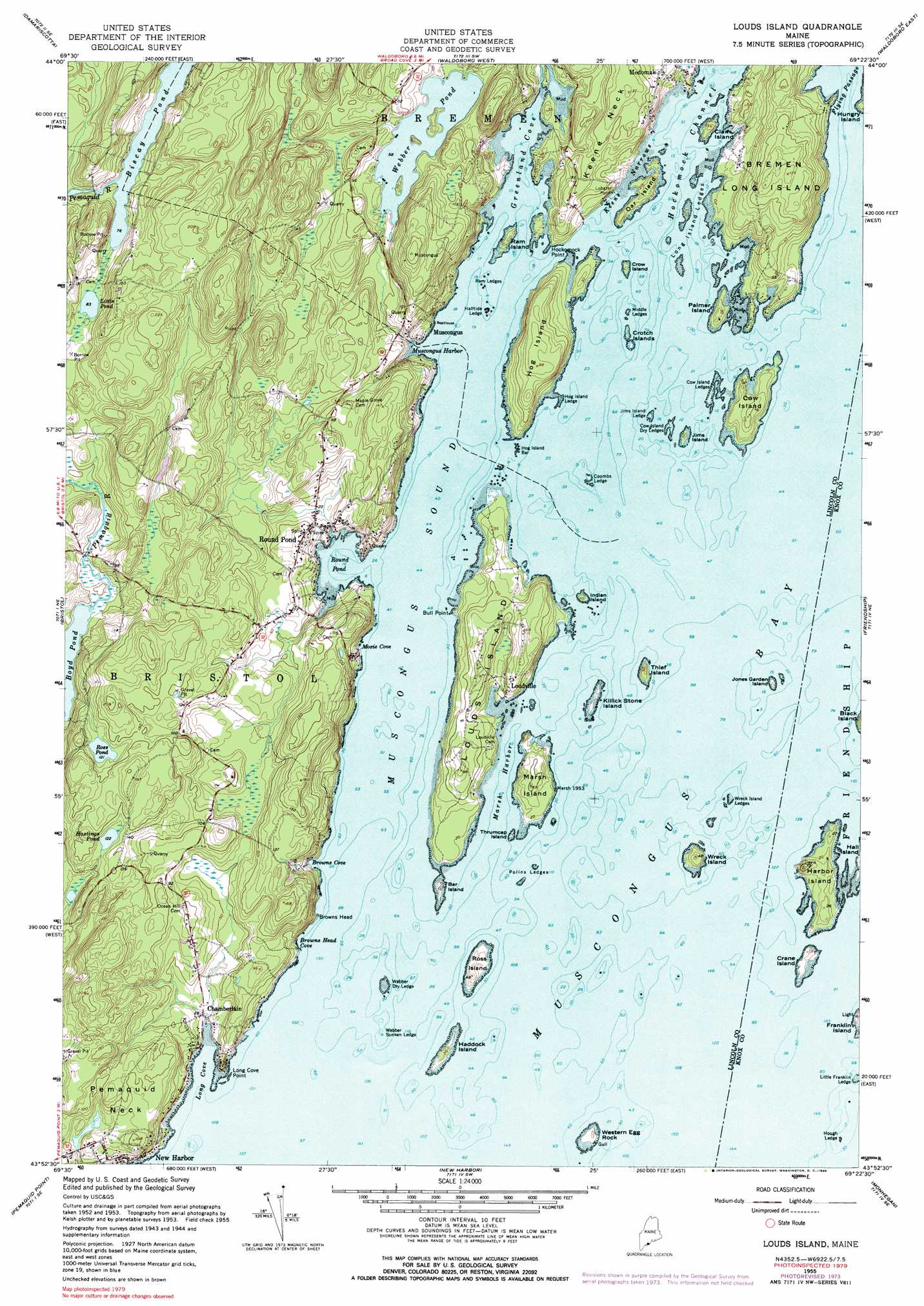 Louds Island Topographic Map ME  USGS Topo Quad 43069h4