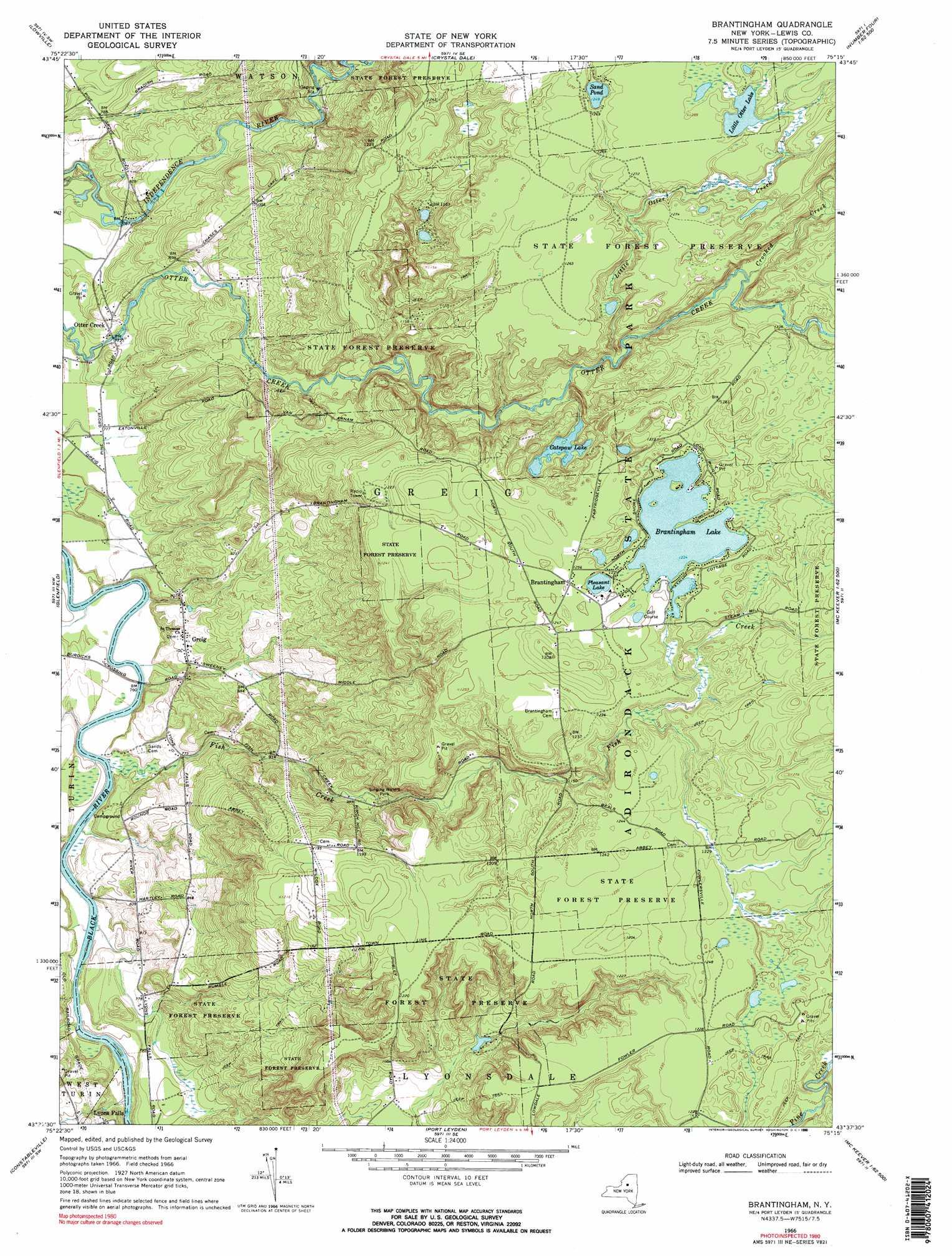 Brantingham Topographic Map Ny Usgs Topo Quad 43075f3