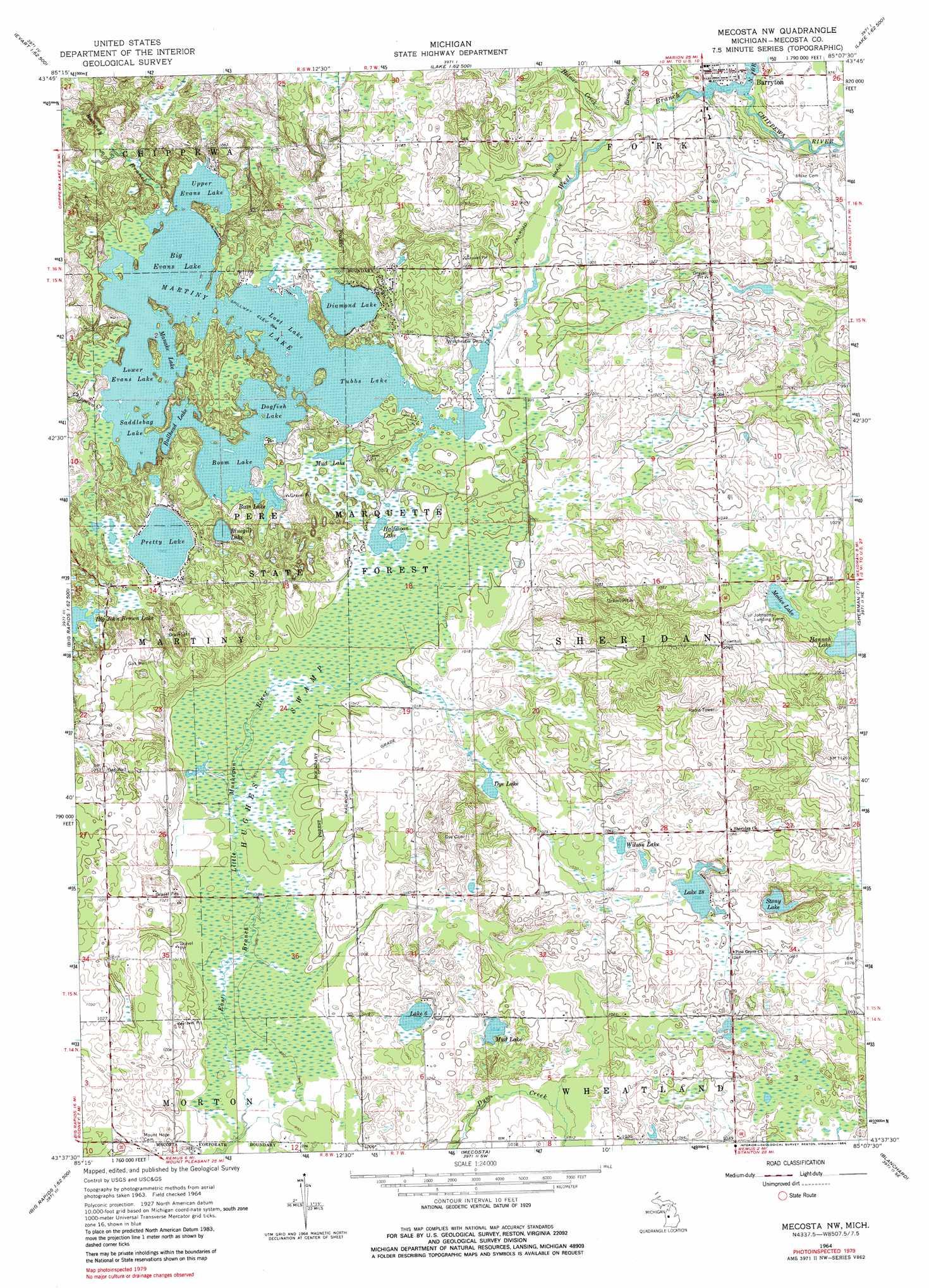 Mecosta Michigan Map.Mecosta Nw Topographic Map Mi Usgs Topo Quad 43085f2