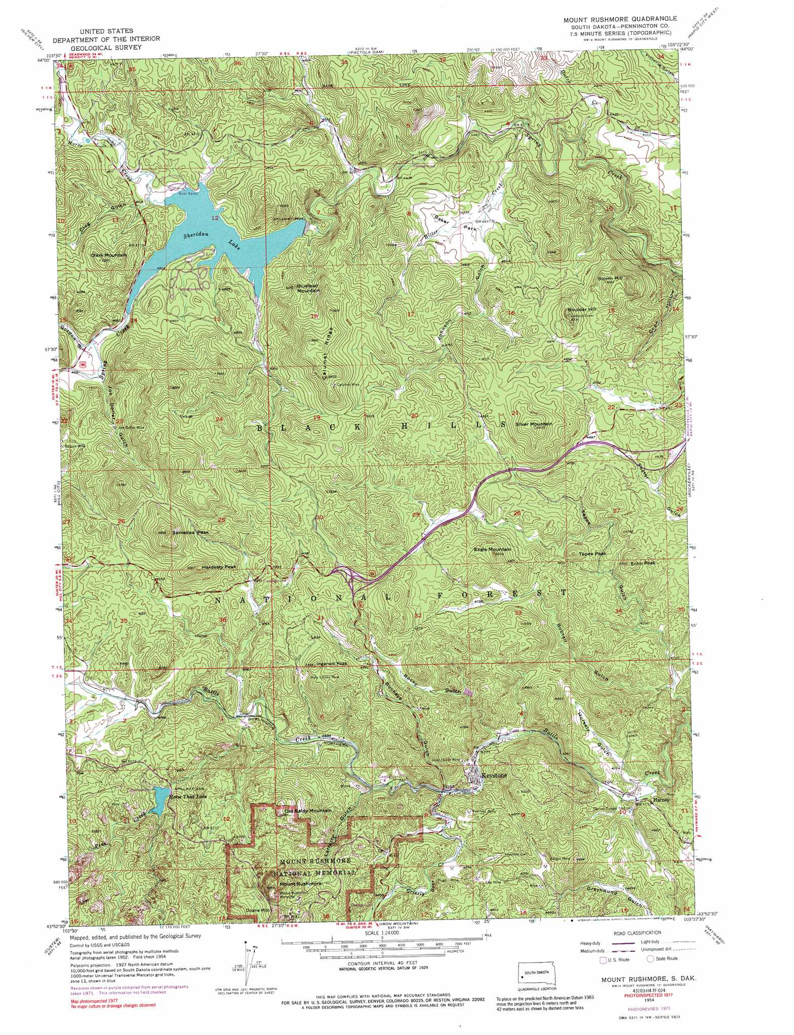 Mount Rushmore Topographic Map SD USGS Topo Quad H - Us topogragphical map