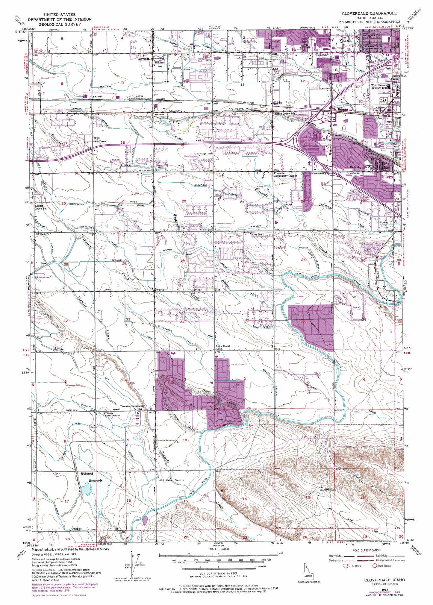 Cloverdale topographic map ID USGS Topo Quad 43116e3