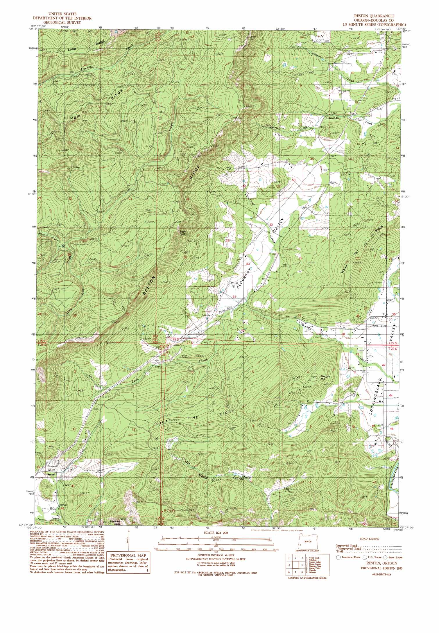 Reston topographic map OR USGS Topo Quad 43123b5