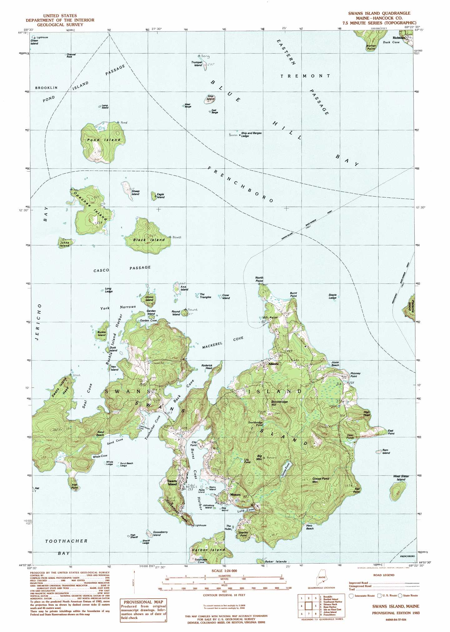 Map Of Swans Island Me