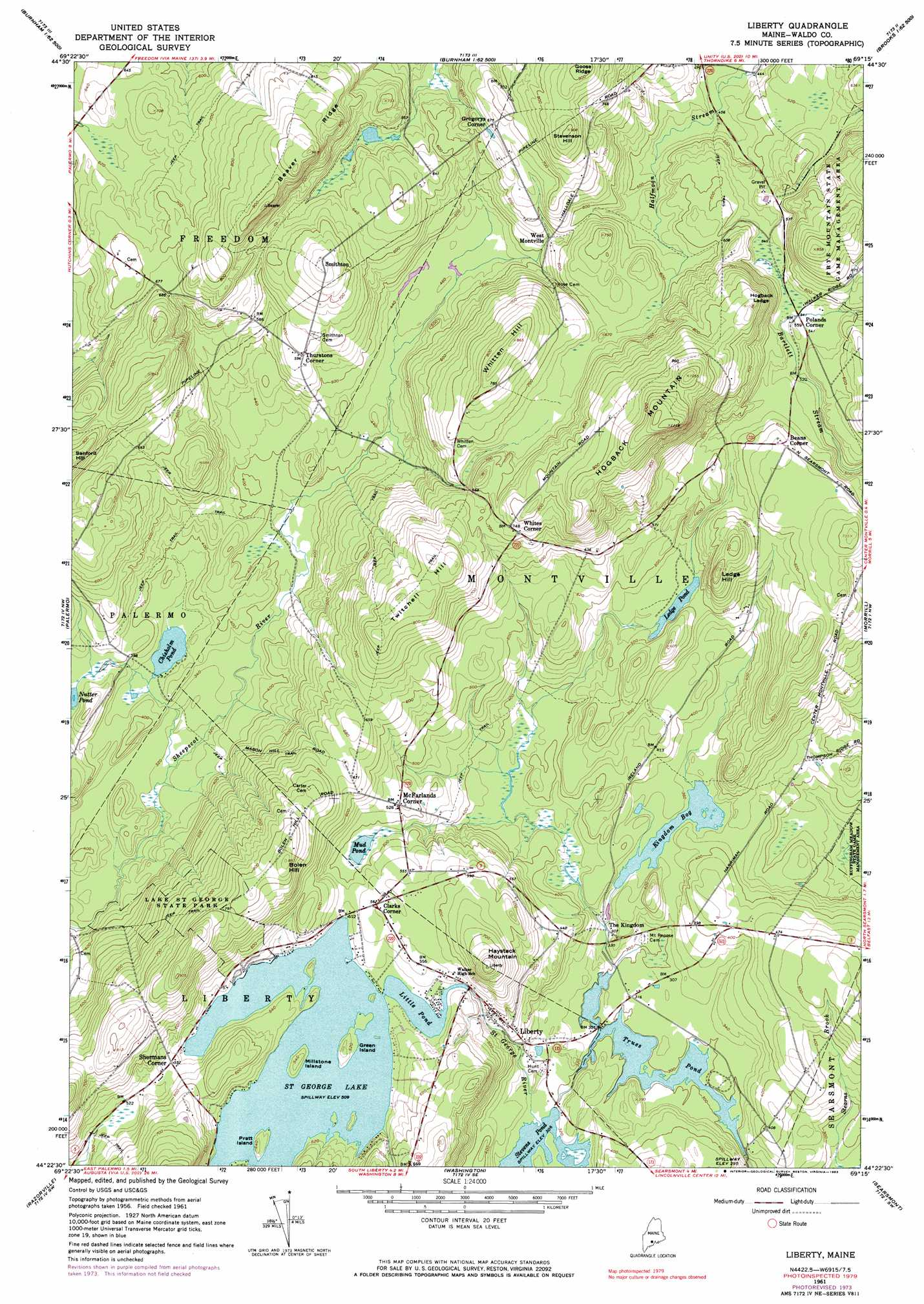 Liberty Topographic Map Me Usgs Topo Quad 44069d3