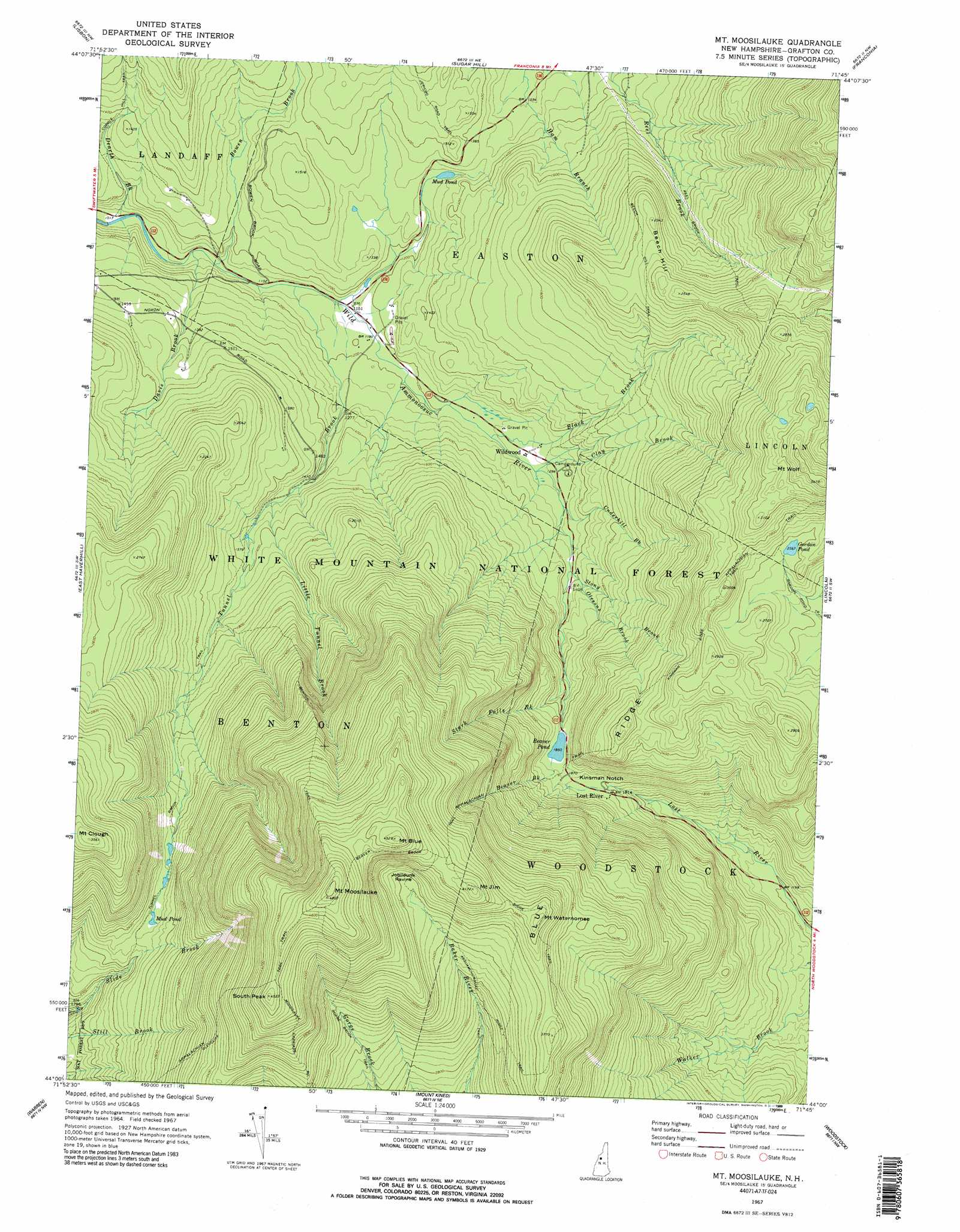 mount moosilauke. mount moosilauke topographic map nh  usgs topo quad a
