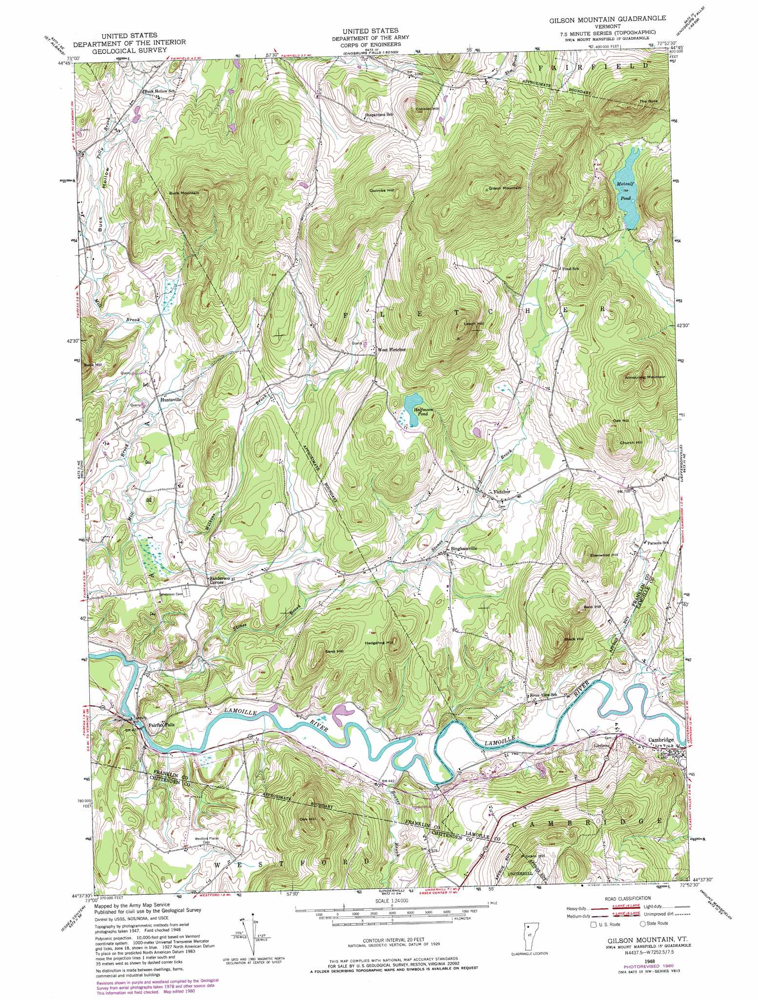 Gilson Mountain Topographic Map VT  USGS Topo Quad 44072f8