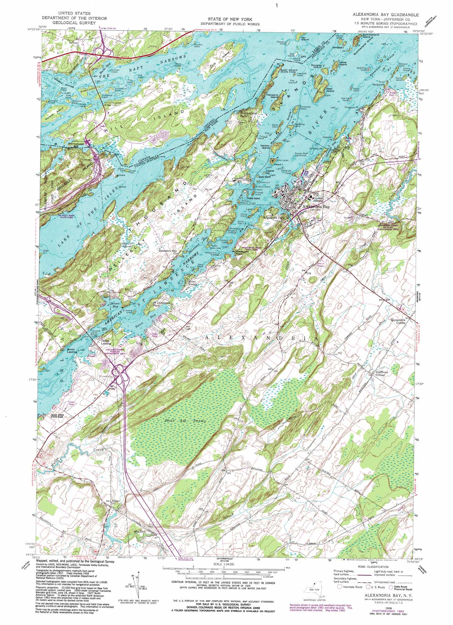 Alexandria Bay Topographic Map NY USGS Topo Quad C - Nyc map topographic