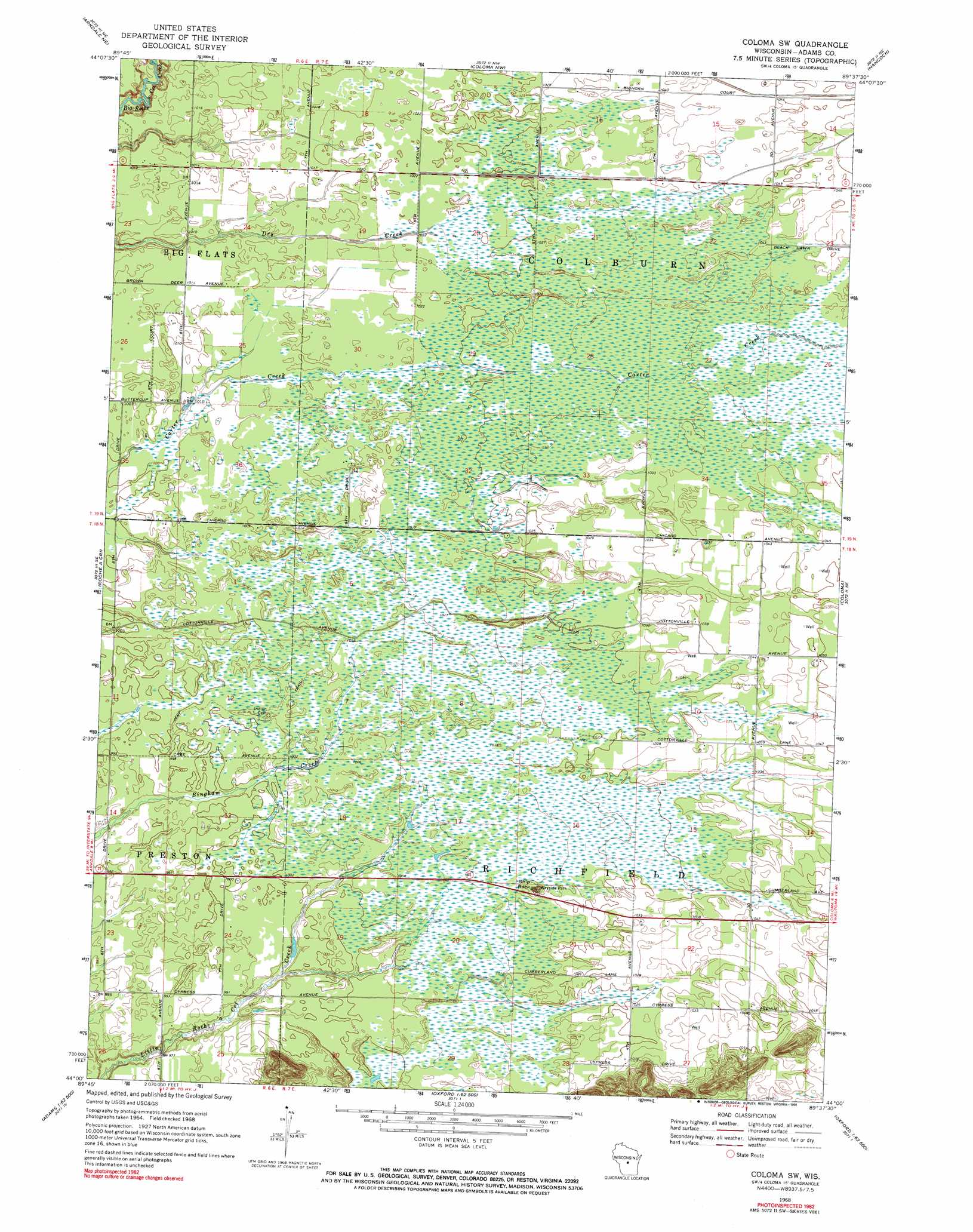 Coloma Wisconsin Map.Coloma Sw Topographic Map Wi Usgs Topo Quad 44089a6