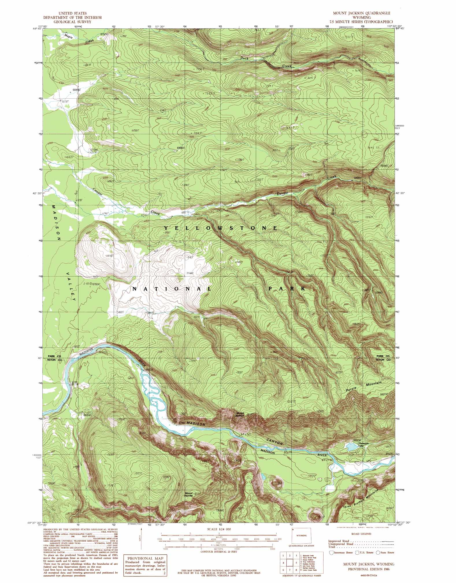 Wyoming contour map 28 images mount jackson for Jerry s fish house florence ms