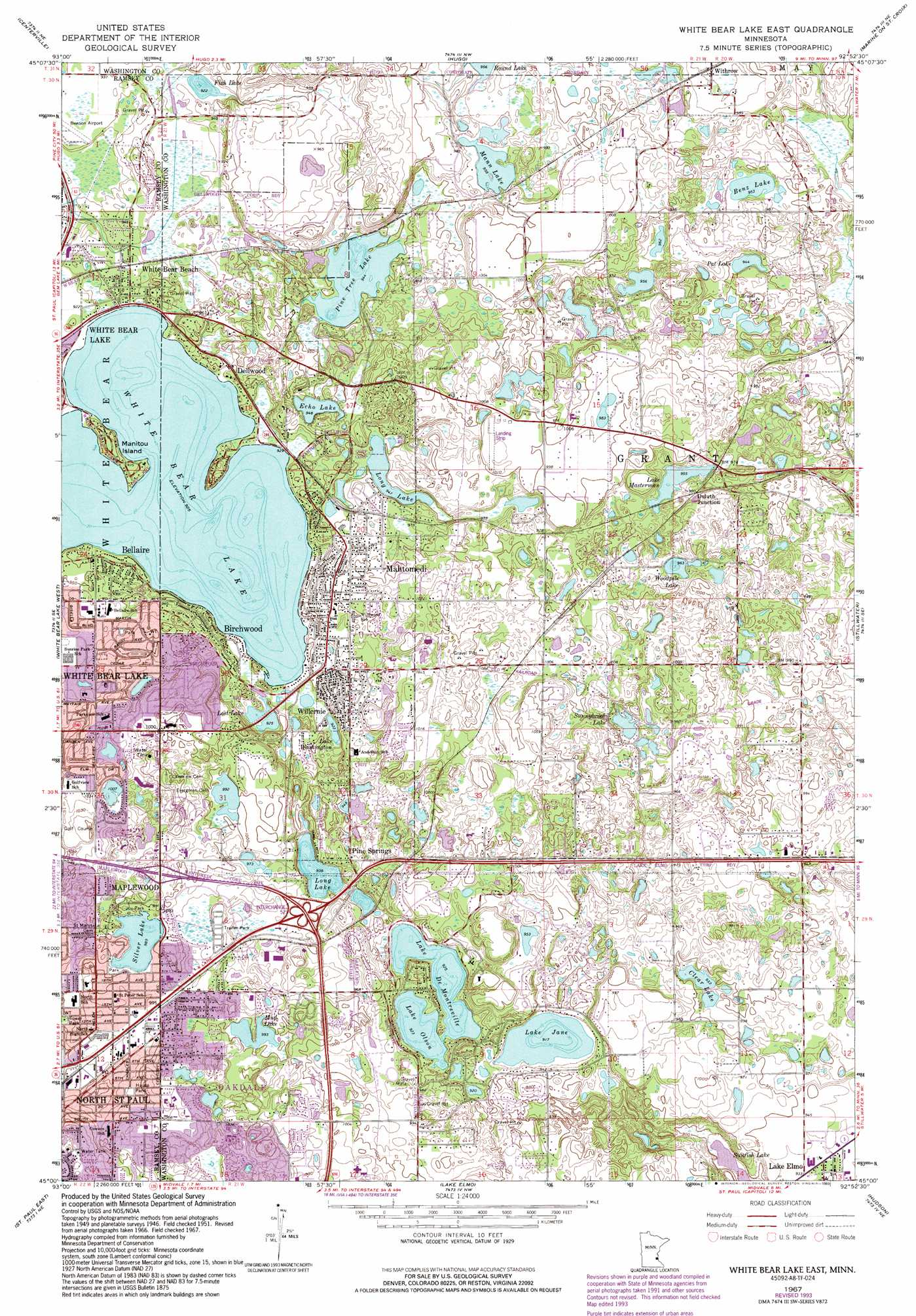 White Bear Lake East topographic map, MN - USGS Topo Quad ... on lake contour maps, dnr lake maps, hume lake california hunting maps, texoma topography maps, national geographic maps, aerial lake maps, satellite lake maps, europe lake maps, tennessee river navigation chart maps, campground site maps, gps lake maps, navionics lake maps, usgs lake maps, best 2014 lake fork tx maps,