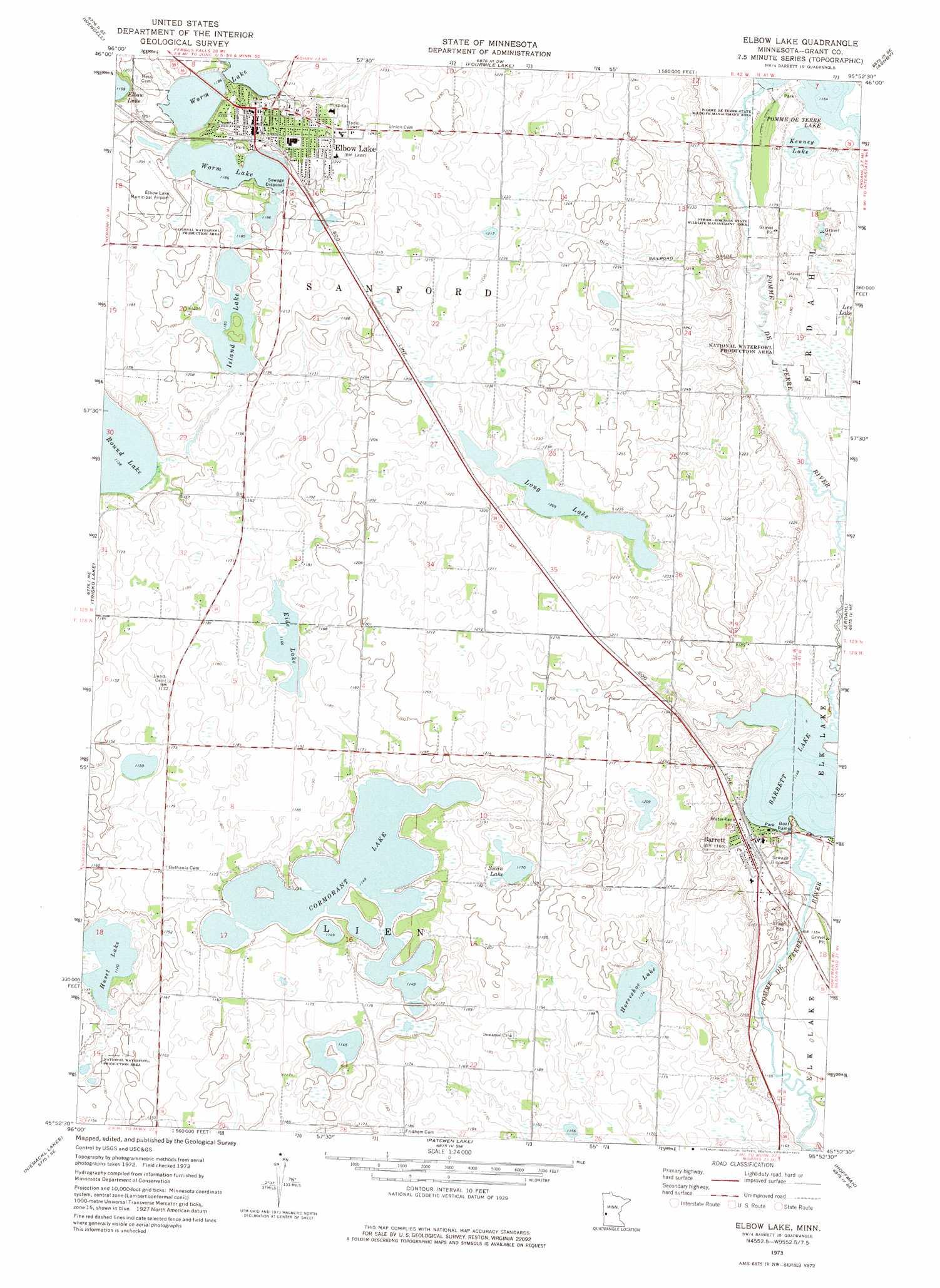 elbow lake mn map Elbow Lake Topographic Map Mn Usgs Topo Quad 45095h8 elbow lake mn map