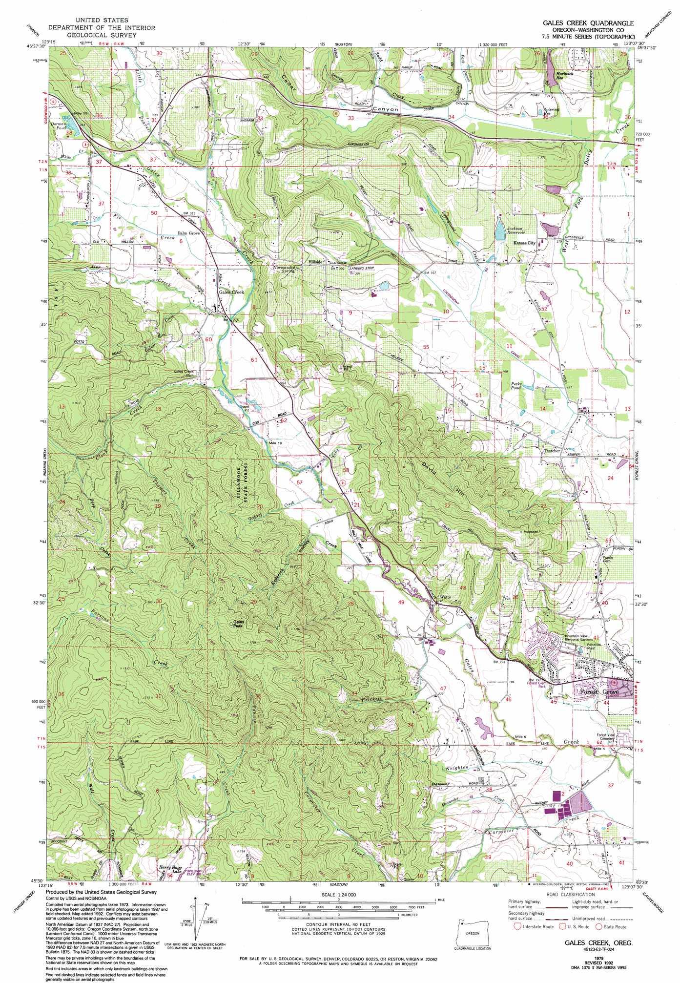 gales creek oregon map Gales Creek Topographic Map Or Usgs Topo Quad 45123e2 gales creek oregon map