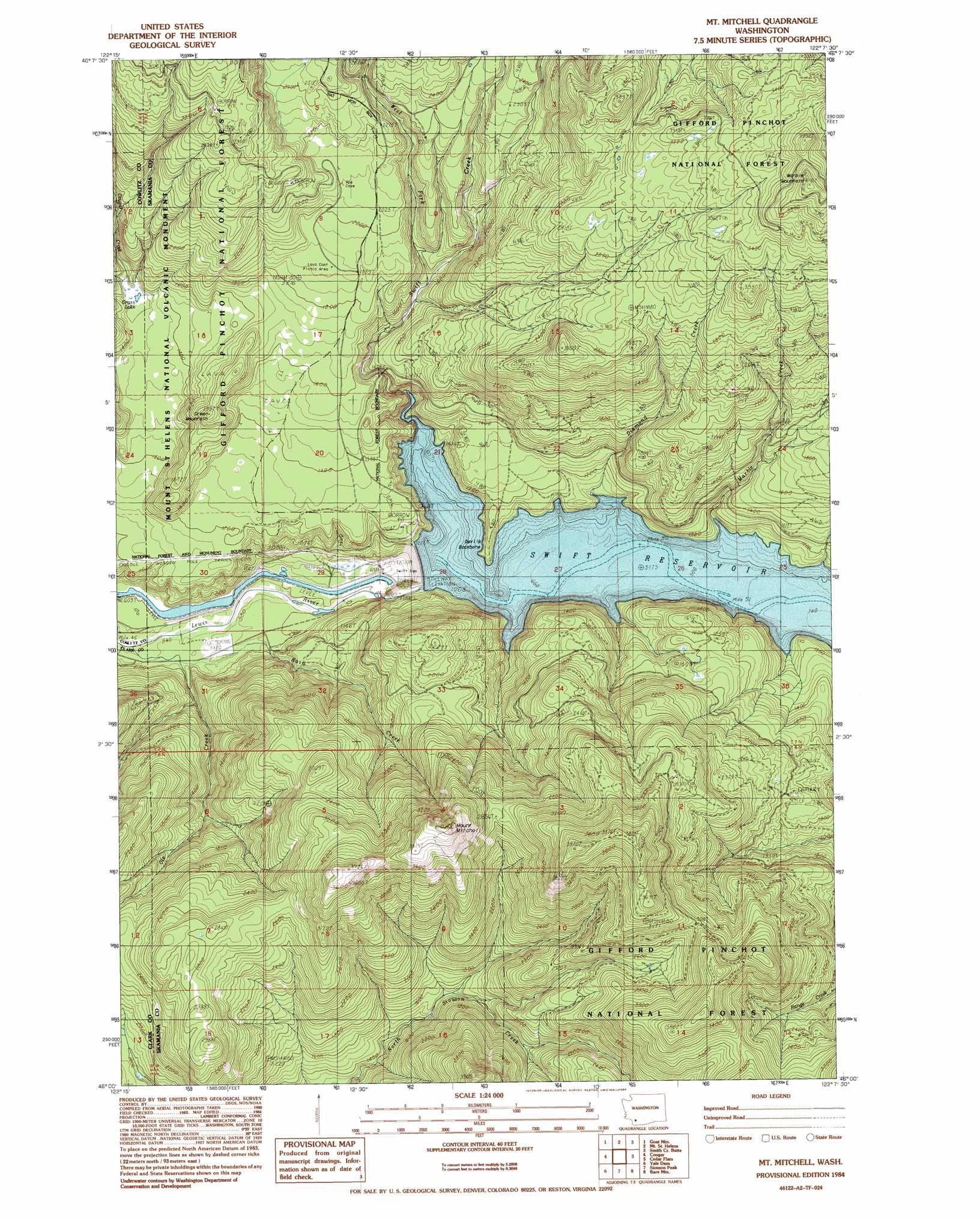 Mount Mitchell Topographic Map Wa Usgs Topo Quad 46122a2