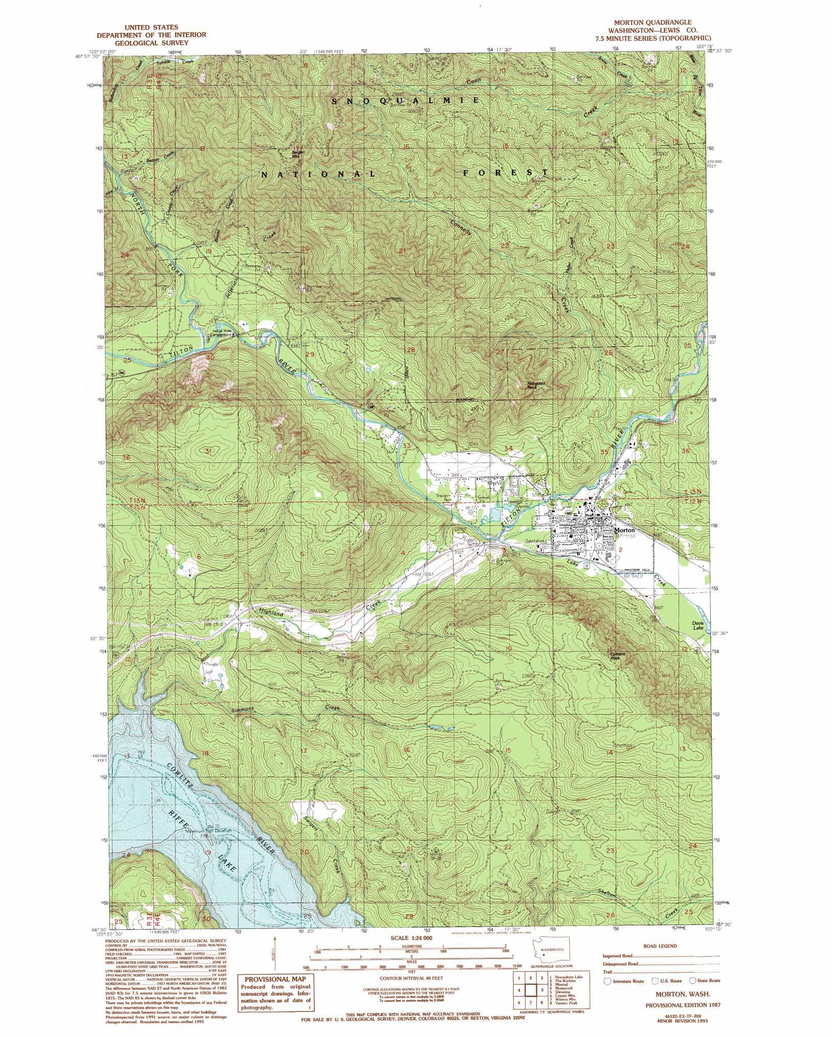 Morton Topographic Map WA  USGS Topo Quad 46122e3