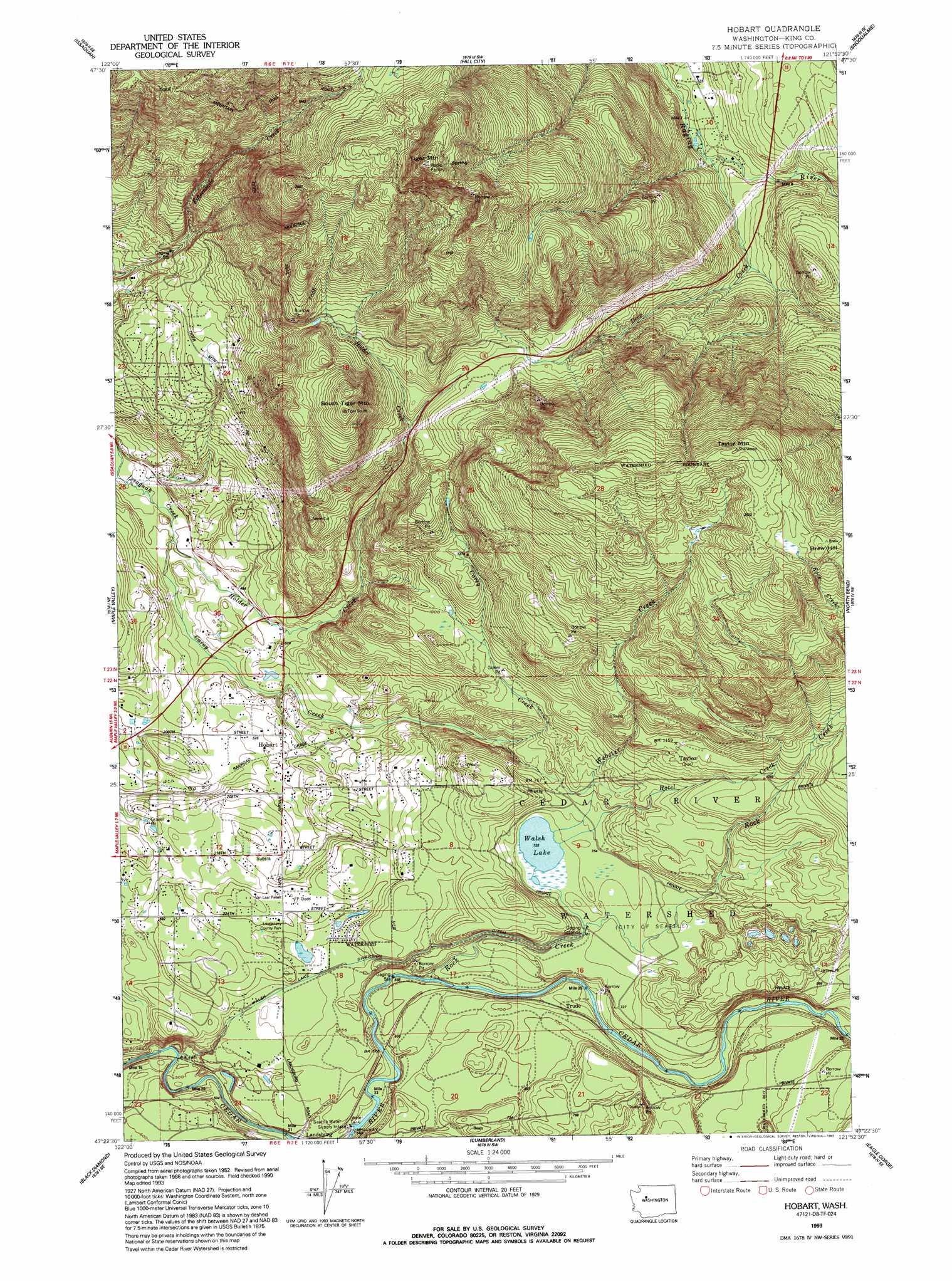 Hobart Topographic Map WA  USGS Topo Quad 47121d8