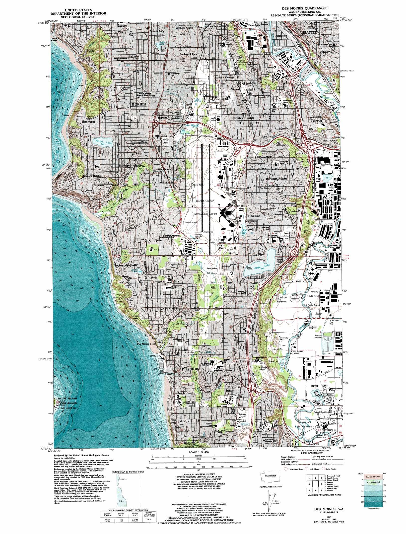 Des Moines Topographic Map WA  USGS Topo Quad 47122d3