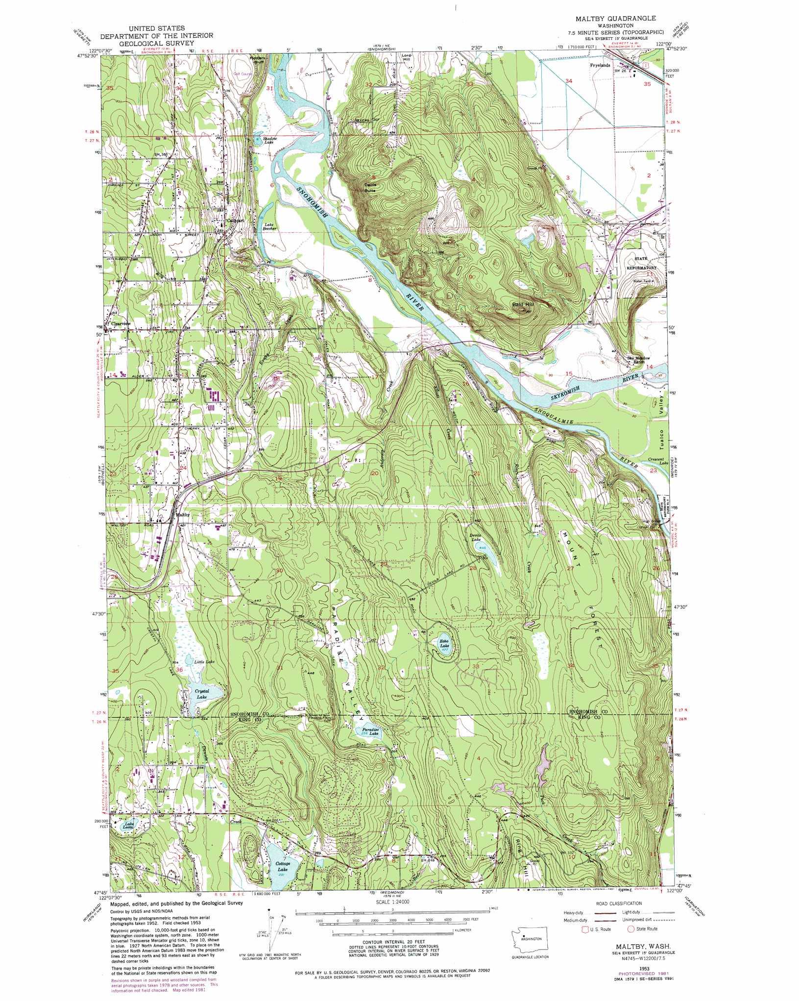 Maltby Topographic Map WA USGS Topo Quad G - Us topo maps pro