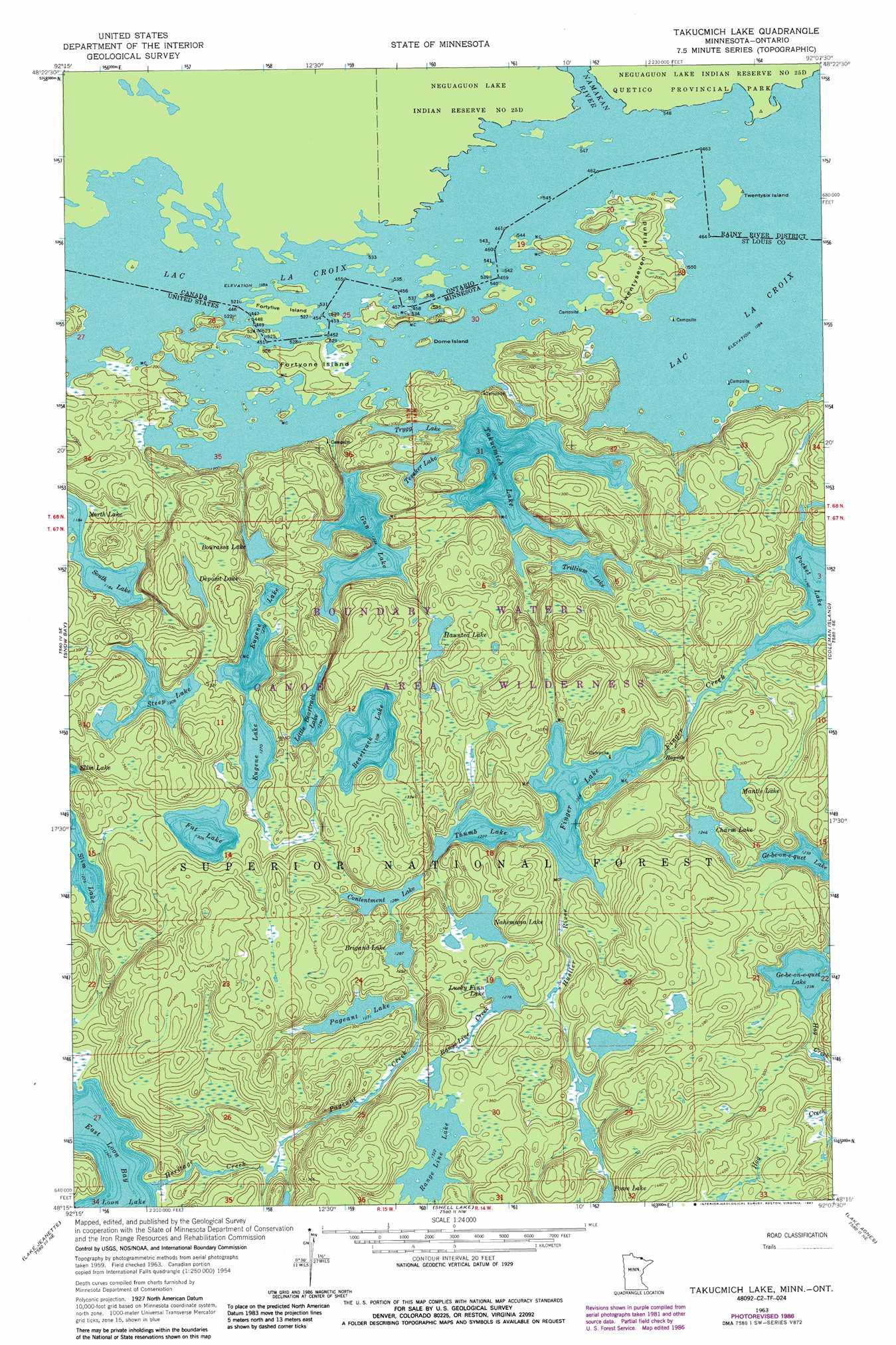 Takucmich Lake topographic map, MN - USGS Topo Quad 48092c2