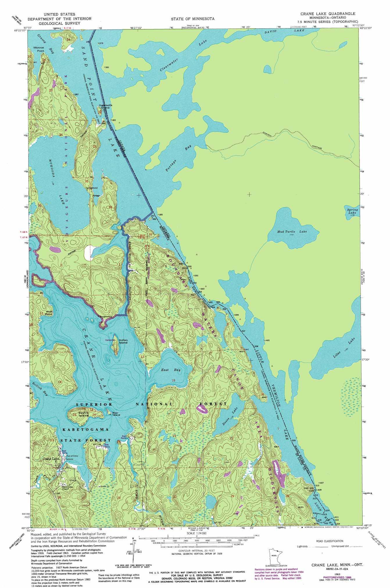 crane lake minnesota map Crane Lake Topographic Map Mn Usgs Topo Quad 48092c4 crane lake minnesota map