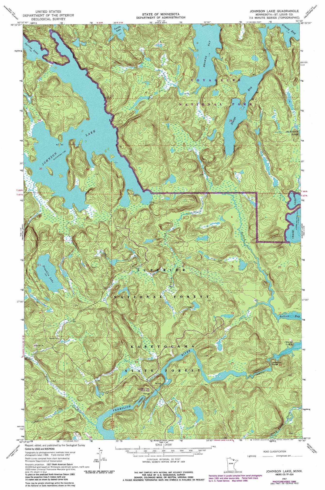 Johnson Lake Topographic Map MN USGS Topo Quad C - Johnson lake map