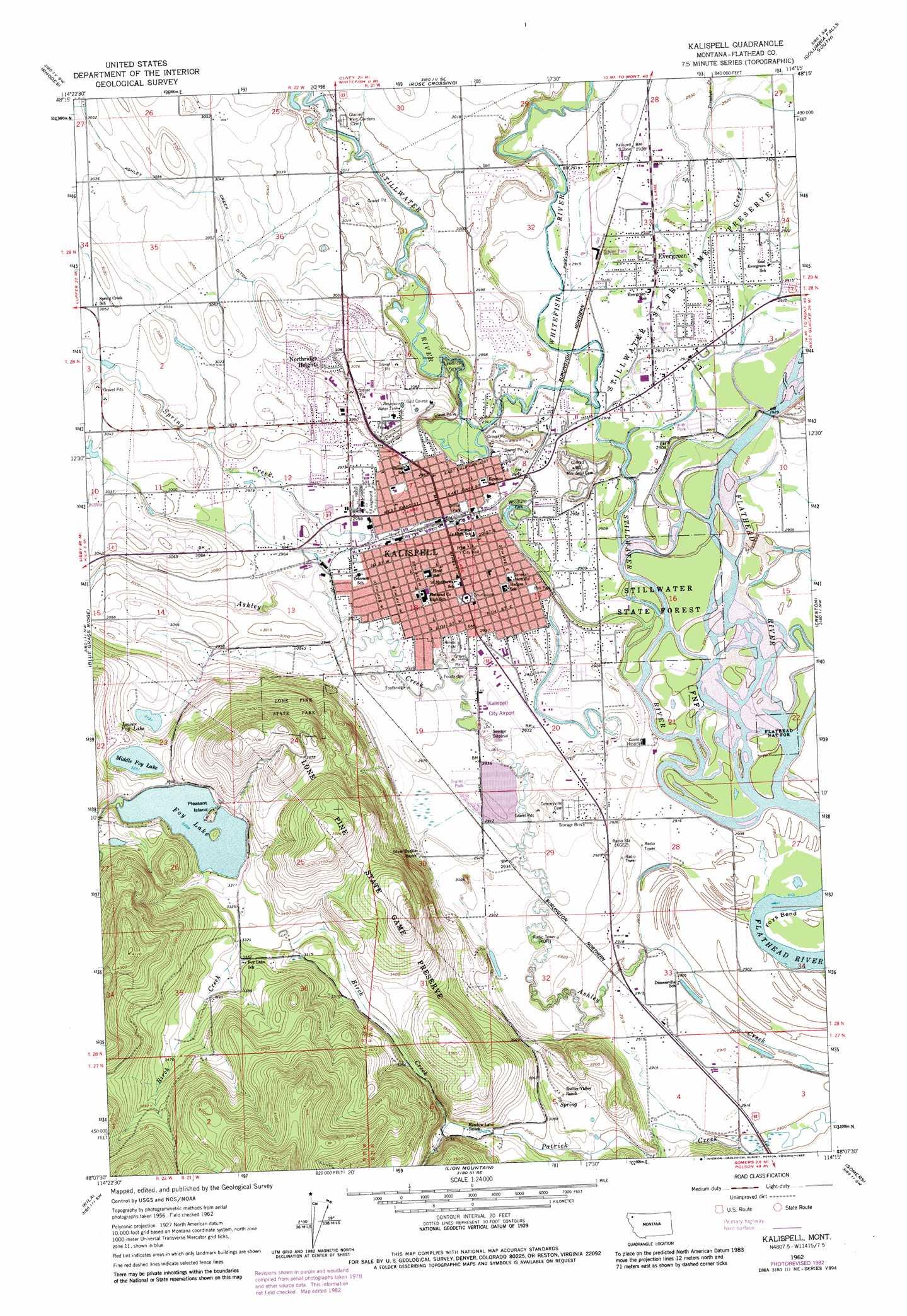 Kalispell Topographic Map MT  USGS Topo Quad 48114b3