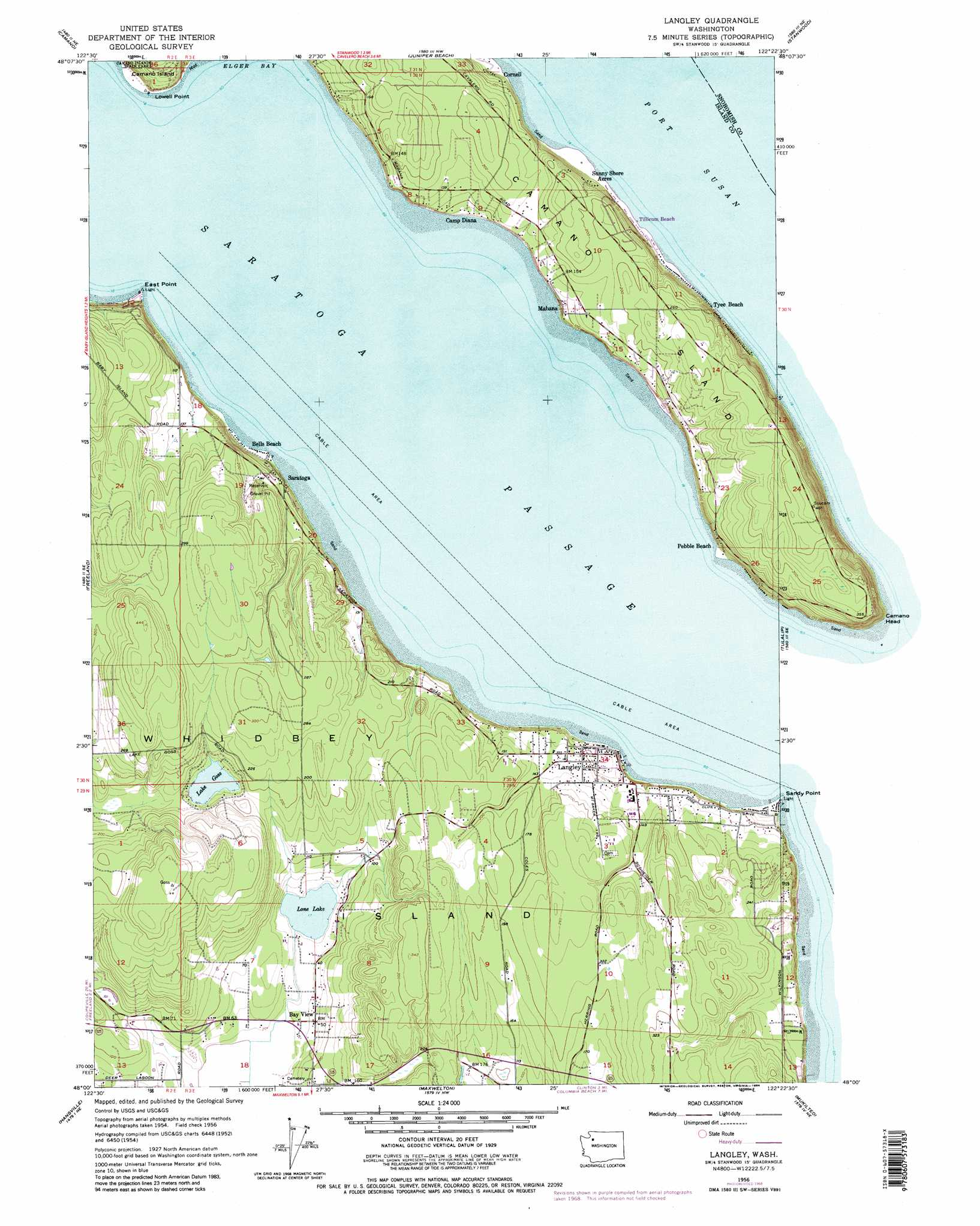 Langley Topographic Map WA