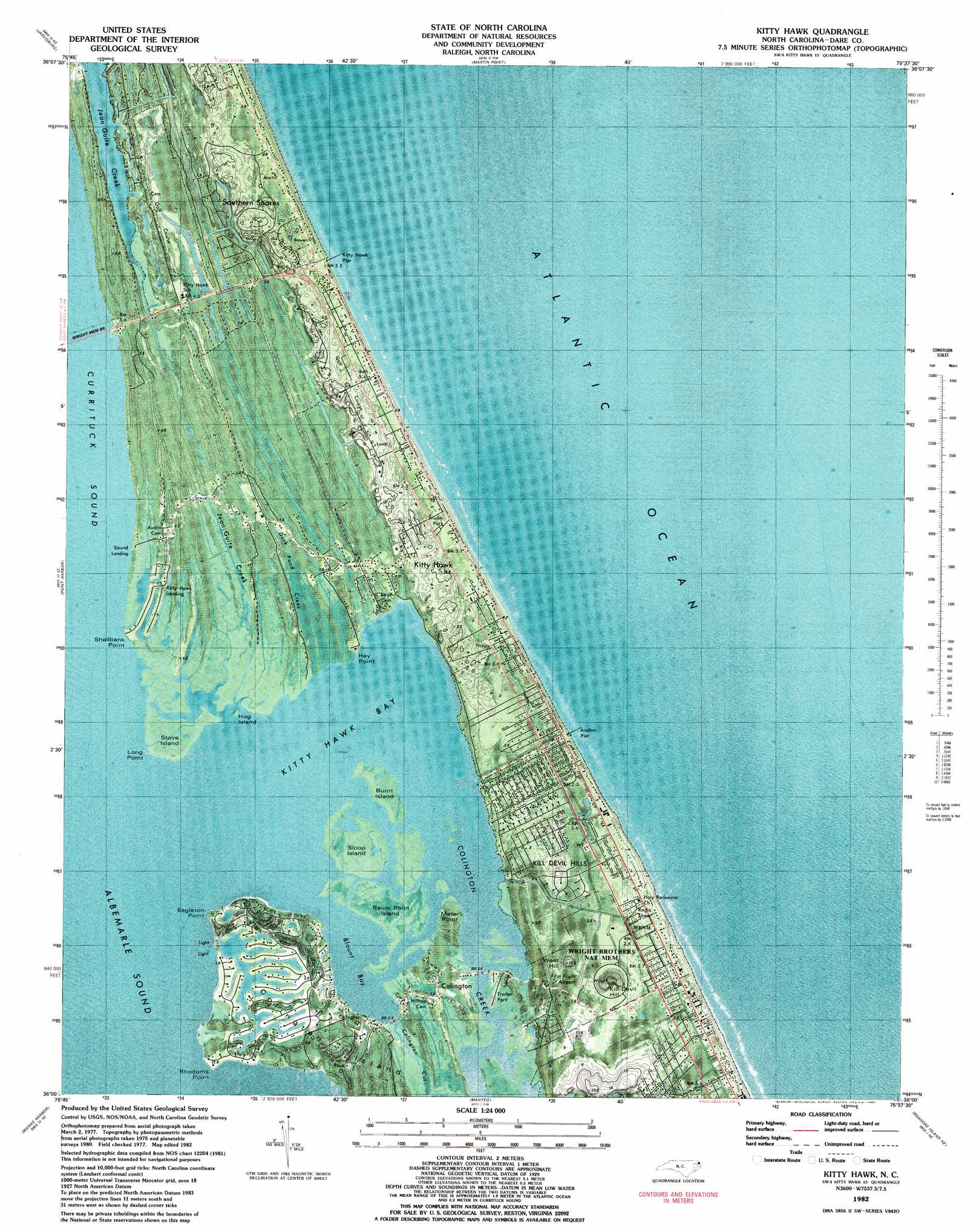 Kitty Hawk topographic map, NC - USGS Topo Quad 36075a6 on united states nc map, jennette's pier nc map, outer banks map, colington island nc map, longwood nc map, kill devil nc map, roanoke island nc map, philadelphia nc map, new inlet nc map, panama canal map, grandy nc map, knotts island nc map, north myrtle beach south carolina map, tennessee nc map, bath nc map, corolla nc map, maryland nc map, highway 64 nc map, nags head nc map, baltimore nc map,