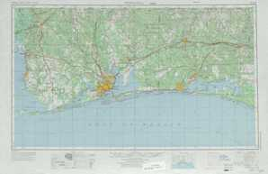 Pensacola topographical map