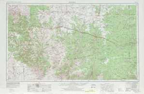 Sonora topographical map
