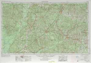 Andalusia topographical map