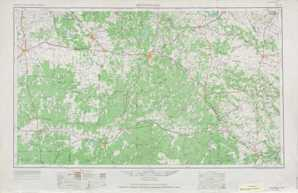 Brownwood topographical map