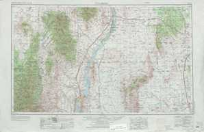 Tularosa topographical map