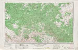 Clifton topographical map