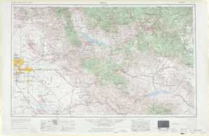 Mesa topographical map