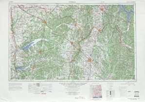 Tupelo topographical map