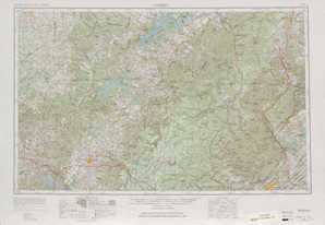 Corbin topographical map