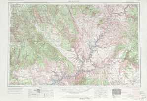 Escalante topographical map