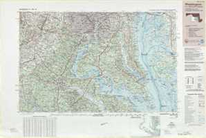 Washington topographical map