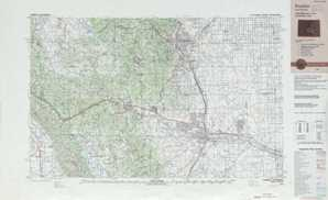 Pueblo topographical map