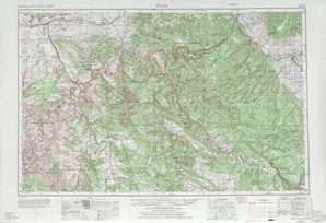 Moab topographical map