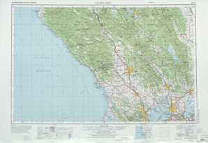 Santa Rosa topographical map