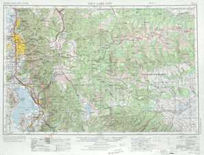 Salt Lake City topographical map