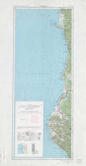 Eureka topographical map