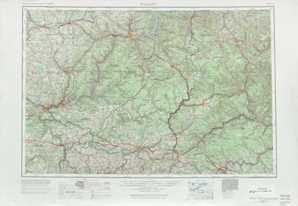 Warren topographical map