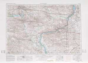 Davenport topographical map