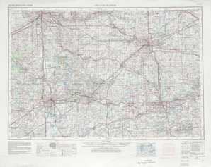 Grand Rapids topographical map